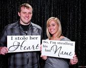 Wedding Signs, Save the Date, Engagment Photo Props,