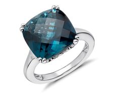 London Blue Topaz Cocktail Ring in Sterling Silver   Blue Nile