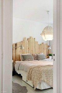 Tipp für kleine Räume: Lenke den Blick nach oben! Funktioniert auch im Schlafzimmer ...