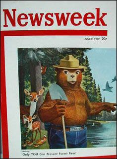 """ORIGINAL 1960 SMOKEY Bear FORESTRY Wood Promo Booklet~/""""Our Daddy is a LUMBERMAN/"""""""