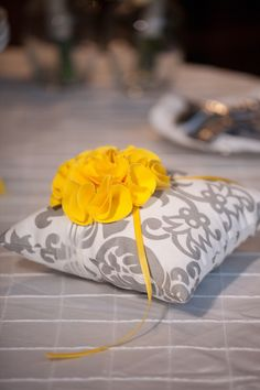 DIY Ring Bearer Pillow - Could always find a template & change the materials.