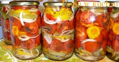 Tomatoes in Winter Pickled Tomatoes Canning Vegetables, Veggies, Pickled Tomatoes, Polish Recipes, Canning Recipes, Beets, Pickles, French Onion, Cucumber