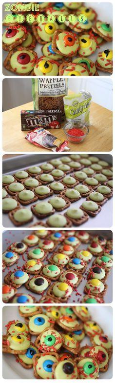 Zombie Eye Balls halloween halloween food halloween recipe halloween recipes halloween party favors halloween party ideas kids recipes
