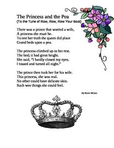 FREE -  great for fluency!!  An original rhyme about The Princess and the Pea, set to the tune of Row-Row-Row Your Boat.