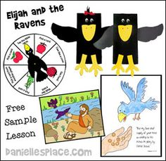 Bible Lesson for Children - Elijah and the Ravens Free Sample Bible Lesson for Sunday School