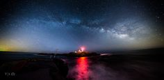 Milky Way over Nubble lighthouse Maine