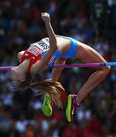 Bronze medalist Ana Simic of Croatia competes in the Women's High Jump final during day six of the 22nd European Athletics Championships at Stadium...