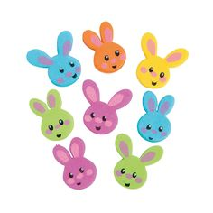 Easter Bunny Beads - 24mm - OrientalTrading.com