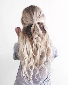 loose braid + curls