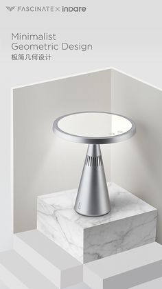 MoonMirror Designed by inDare on Behance Nail Dust Collector, Cool Designs, Minimalist, Mirror, Table, Behance, Inspiration, Furniture, Lighting