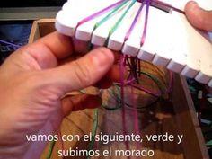 ▶ pulsera morada kumihimo cuadrado - YouTube
