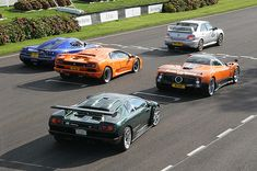 Picture taken at the 2007 october meet a Koenigsegg ccx with zonda f and two lamborghini diablos, with subaru impreza track car up front     . Beautiful !!!