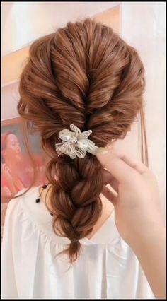 Braided Hairstyles Tutorials, Easy Hairstyles For Long Hair, Pretty Hairstyles, Girl Hairstyles, Wedding Hairstyles, Messy Ponytail Hairstyles, Summer Hairstyles, Hair Up Styles, Medium Hair Styles