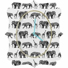 @rosenberryrooms is offering $20 OFF your purchase! Share the news and save!  Graphic Zoo Quatrefoil Wall Clock #rosenberryrooms