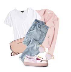 """""""Untitled #3762"""" by monmondefou ❤ liked on Polyvore featuring Rebecca Taylor, Topshop, Michael Kors, Wrap and Le Specs"""