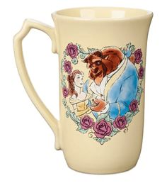 Open your heart to new adventures with each sip from this tall tulip mug inspired by Disney's Beauty and the Beast. Belle and Beast remind you daily to look beyond appearances for stunning transformations. Disney Home, Disney Parks, Walt Disney, Disney Souvenirs, Ariel, Resort Logo, Belle And Beast, Mermaid Mugs, Disney Cups