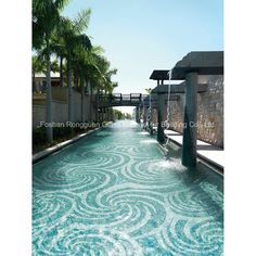Glass Tile in Art Pattern for Swimming Pool Mosaic