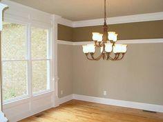 two tone walls using trim