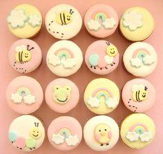 I'm so SO addicted with those CUTE cupcakes ! Cupcakes I love . Torta Baby Shower, Baby Shower Cupcakes, Shower Cakes, Baby Cupcake, Cupcake Cookies, Fondant Cupcake Toppers, Fondant Baby, Cupcake Ideas, Cupcakes Design