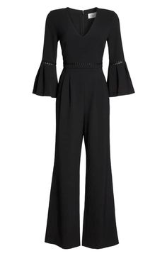 Eliza J Bell Sleeve Wide Leg Jumpsuit (Regular & Petite) Jumpsuit With Sleeves, Wide Leg, Bell Sleeves, Nordstrom, Cute Outfits, One Piece, Gowns, Chic, My Style