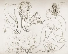"""Pablo Picasso - """"Susanna and the Elders 2"""", 1966"""