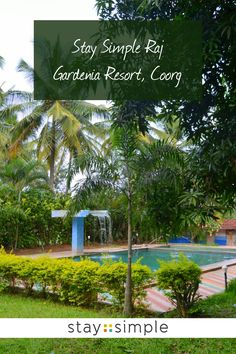 Between palm trees and greenery you will find our Stay Simple Raj Gardenia pool. Come enjoy the Scotland of India at one of our resorts in Coorg! Travel Destinations In India, Fun Adventure, Travel Plan, Karnataka, Travel And Leisure, Hotels And Resorts, Trip Planning, Palm Trees, Greenery
