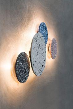 the way: Terrazzo is trending again Bentu wall light made in terrazzo.Bentu wall light made in terrazzo. Interior Lighting, Home Lighting, Modern Lighting, Lighting Ideas, Interior Ideas, Modern Floor Lamps, Modern Wall, Terrazzo, Landscape Lighting Design