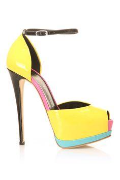 color block heels / Giuseppe Zanotti