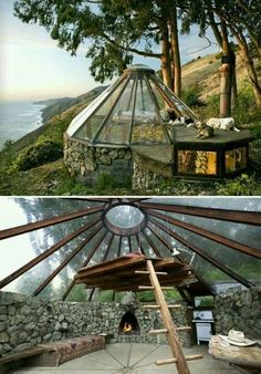 Glass roof cabin