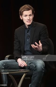 Actor Shaun Evans speaks onstage during the Masterpiece 'Endeavour'...
