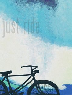 Just Ride Ad by Lisa Weedn Fine Art Print