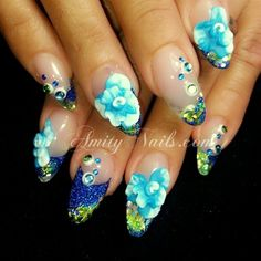 blue 3d – Nail Art Gallery Expensive Nails | Nail 3d nail art