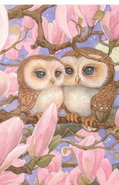 'Love Owls' iPhone Case by JamesBrowneArt Owl Photos, Owl Pictures, Owl Artwork, Owl Wallpaper, Art Mignon, Owl Quilts, Owl Bags, Owl Cartoon, Felt Owls
