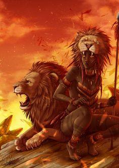 The lion : Leo by Lily-Fu on DeviantArt Black Love Art, Black Girl Art, Art Girl, Character Art, Character Design, Afrique Art, Black Girl Cartoon, Black Art Pictures, Zodiac Art