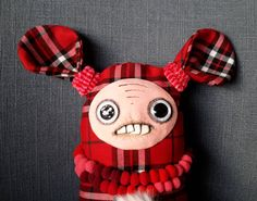 Unique gift handmade fabric rag doll - Sweety by SzyszkaDolls on Etsy Unique Gifts, Handmade Gifts, Rag Dolls, Trending Outfits, Unique Jewelry, Fabric, Etsy, Vintage, Kid Craft Gifts