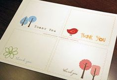 More Free Printable Thank you Cards