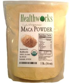 FOOD OF THE INCAS: HealthWorks-Wild Organic Peruvian Maca Root Powder Wildcrafted Raw Superfood 1 Lb