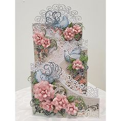 Doves And Roses Foldout Card project made w/ Classic Wedding collection from #HeartfeltCreations