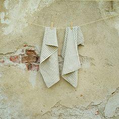 Handtücher - Crème Natur Leinenhandtücher Brittany Small - ein Designerstück von LinenMe bei DaWanda