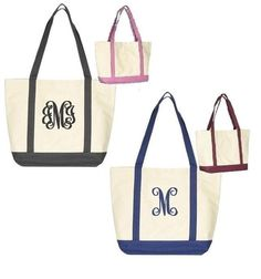 Personalized Canvas Tote Bag - Boat. $13.99, via Etsy.
