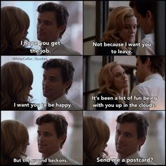 Neal and Sara. White Collar Quotes.