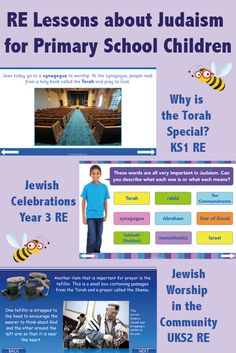 Teach your or class all about Judaism and Jewish beliefs, scripture, teachings and places of worship with these lesson plan packs. Every pack includes resources for teaching about Judaism, such as worksheets or games. Judaism For Kids, Jewish Beliefs, Slideshow Presentation, Praying To God, Religious Education, Primary School, Teaching Resources, Lesson Plans, Exploring