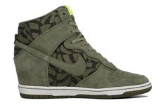 buy online d7add ea1c2 Nike WMNS Dunk Sky Hi Liberty OG QS in Olive. Wedge Heel SneakersShoes ...