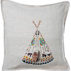 Coral and Tusk - plains fox pocket pillow
