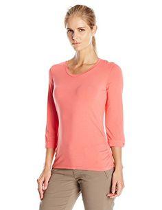 White Sierra Women's Tangier 3/4 Sleeve Shirt, Small, Watermelon