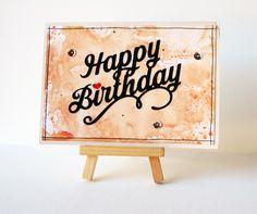 Carte Happy Birthday (Scrapboocrys)