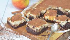Brownie met appeltaart-cheesecake
