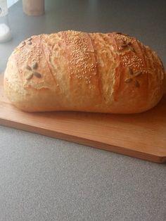 Kézzel dagasztott 1 kg-os házi fehér kenyerem! Nem csak kinézetre, de ízre is csodás! - Ketkes.com Bread, Food, Brot, Essen, Baking, Meals, Breads, Buns, Yemek