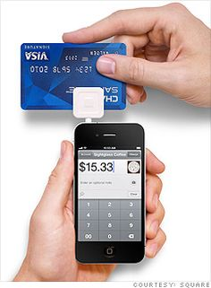 iSquare - credit card swiping app you can attach to to your iphone and/or ipad