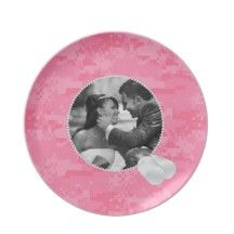Pink Camo  and Dog Tags Frame Photo Plate